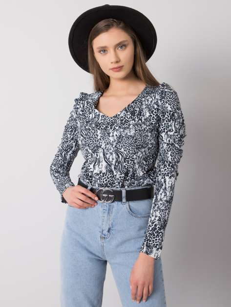 Biało-czarna bluzka we wzory Bailey