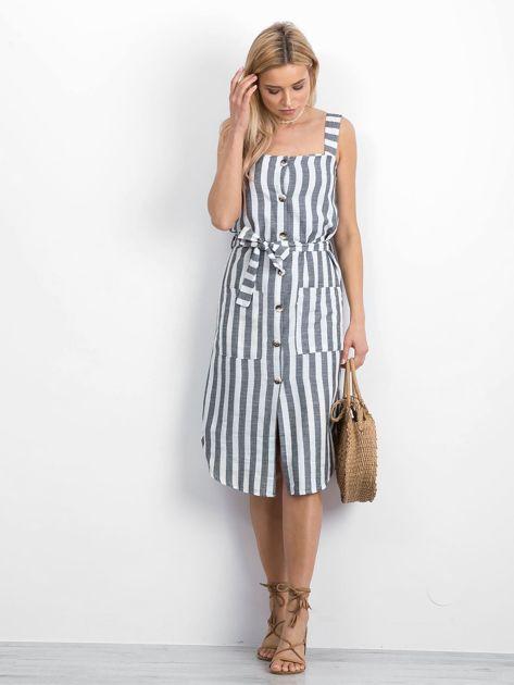 Biało-czarna sukienka Perilously                              zdj.                              3