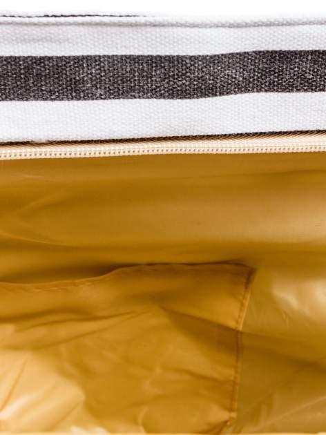 Biało-czarna torba plażowa w paski                                  zdj.                                  9