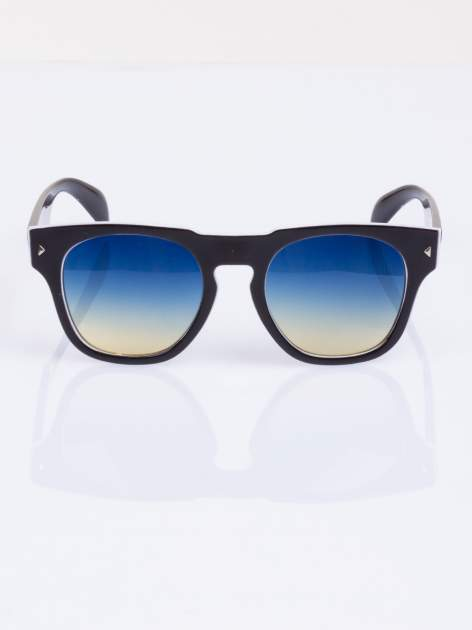 Biało-czarne okulary hipster w stylu VINTAGE RETRO                                   zdj.                                  1