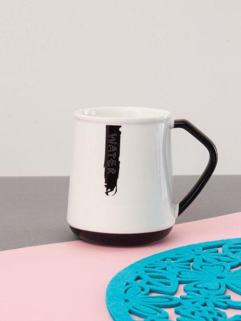 Biało-czarny kubek ceramiczny                              zdj.                              1