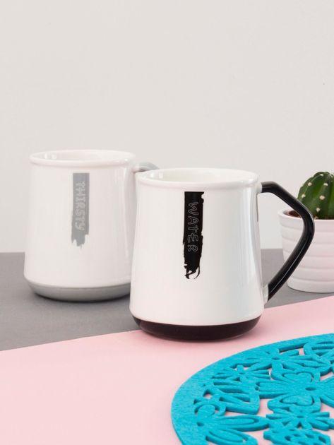 Biało-czarny kubek ceramiczny                              zdj.                              4