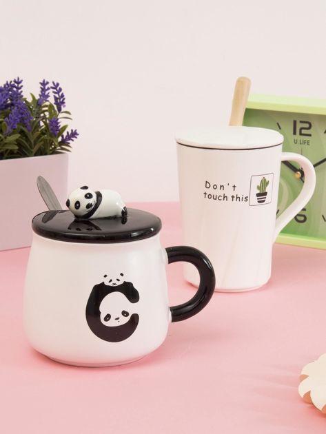 Biało-czarny kubek z pandą                              zdj.                              8