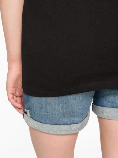 Biało-czarny t-shirt z nadrukiem wieży Eiffla                                   zdj.                                  11