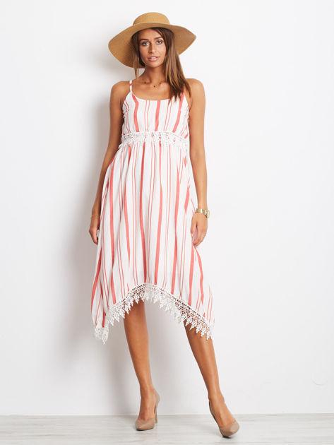 Biało-czerwona sukienka Indepedence