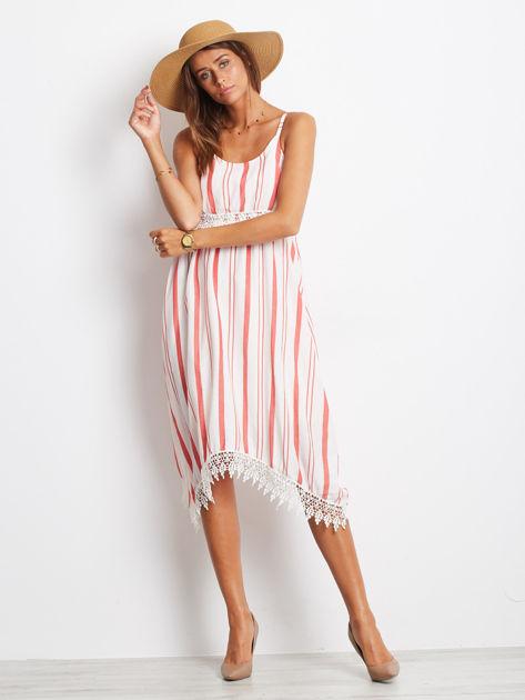 Biało-czerwona sukienka Indepedence                              zdj.                              4