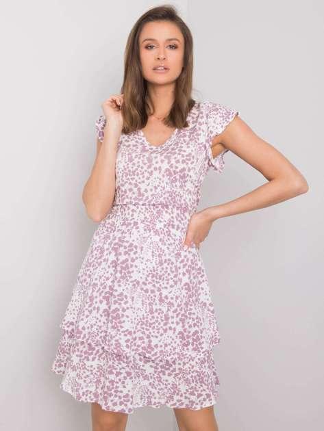Biało-fioletowa sukienka Athena SUBLEVEL