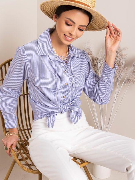 Biało-niebieska koszula Feel RUE PARIS