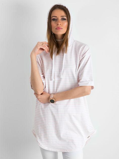 Biało-różowa bluzka w paski                               zdj.                              10