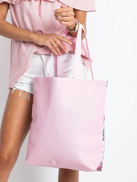 Biało-różowa torba z nadrukiem                              zdj.                              2