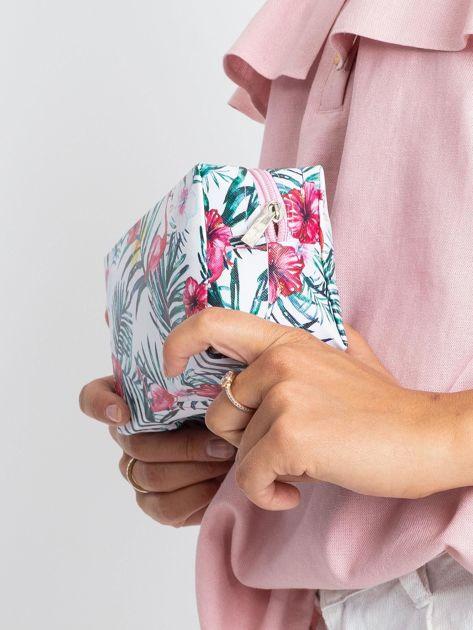 Biało-różowa torba z nadrukiem                              zdj.                              6