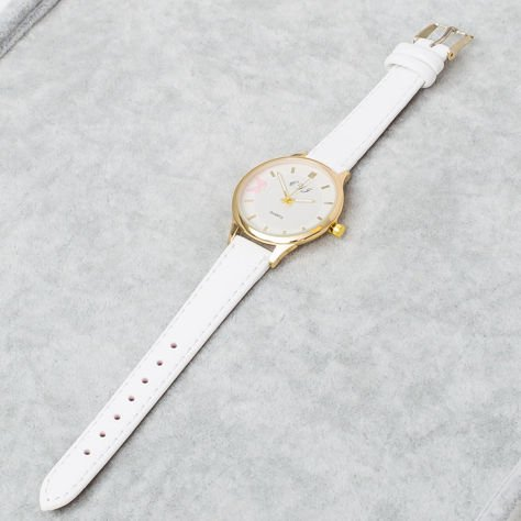 Biały Zegarek Damski z Motylem                              zdj.                              5