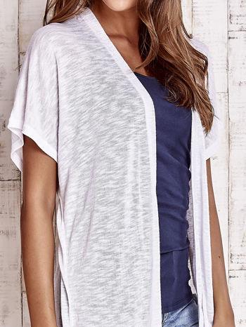 Biały długi sweter z krótkim rękawem                                  zdj.                                  5