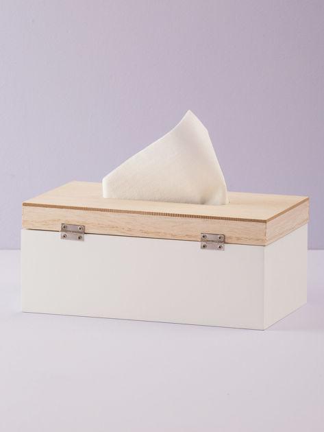 Biały pojemnik na chusteczki                              zdj.                              3