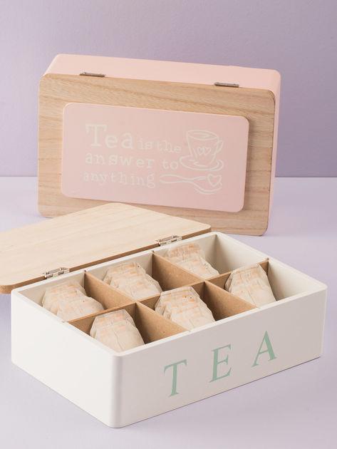 Biały pojemnik na herbatę                              zdj.                              3