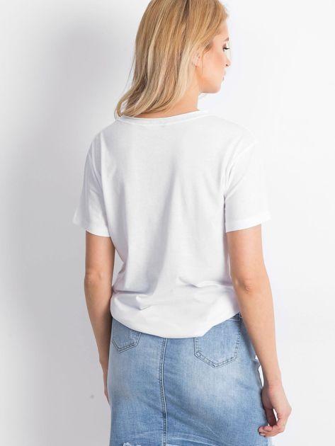 Biały t-shirt Astonishment                              zdj.                              2