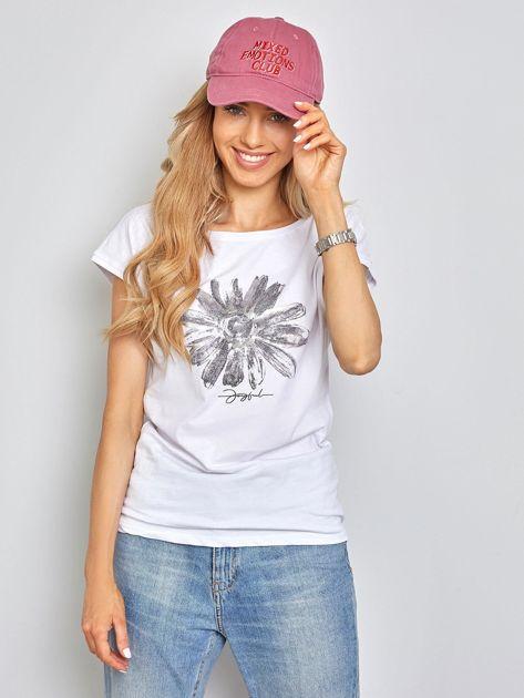 Biały t-shirt Floral