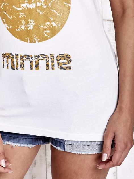 Biały t-shirt MINNIE MOUSE                                  zdj.                                  7