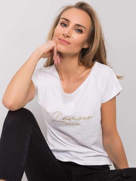 Biały t-shirt Stella RUE PARIS