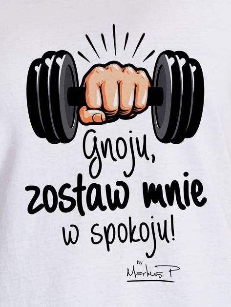 Biały t-shirt damski ZOSTAW MNIE by Markus P                                  zdj.                                  2