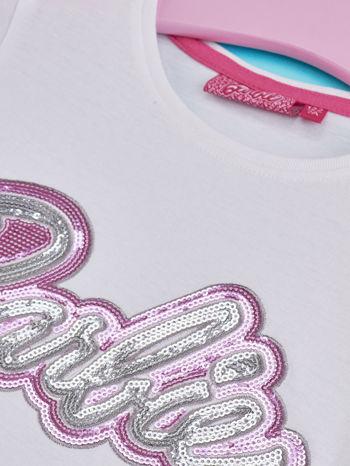 Biały t-shirt dla dziewczynki BARBIE                                  zdj.                                  4