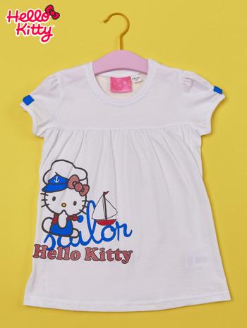 Biały t-shirt dla dziewczynki HELLO KITTY                                  zdj.                                  1