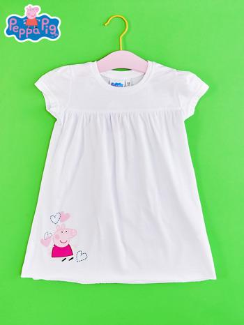 Biały t-shirt dla dziewczynki ŚWINKA PEPPA                                  zdj.                                  1