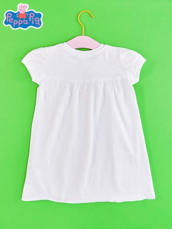 Biały t-shirt dla dziewczynki ŚWINKA PEPPA                                  zdj.                                  2