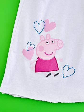 Biały t-shirt dla dziewczynki ŚWINKA PEPPA                                  zdj.                                  4