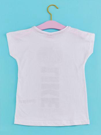 Biały t-shirt dla dziewczynki z napisem LOVE LIKE CRAZY                                  zdj.                                  2