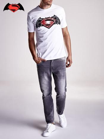 Biały t-shirt męski BATMAN V SUPERMAN                                  zdj.                                  9