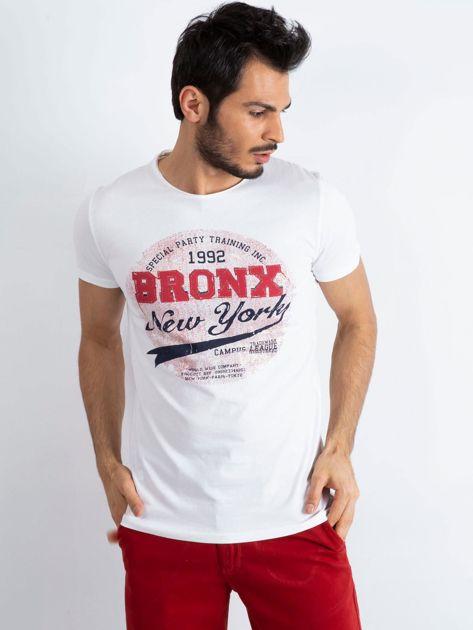 Biały t-shirt męski Bronx