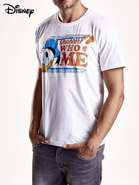 Biały t-shirt męski KACZOR DONALD                                  zdj.                                  4