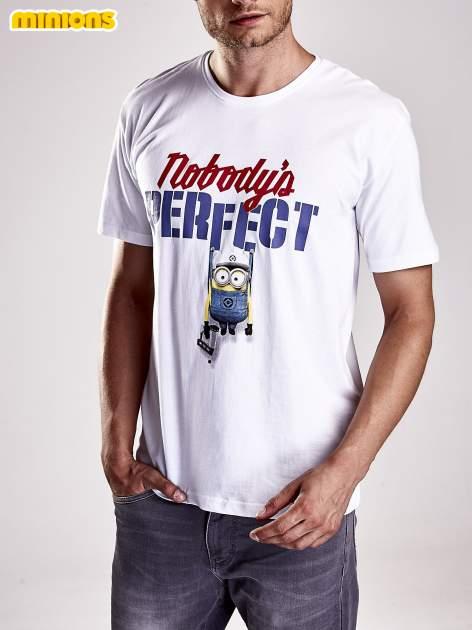Biały t-shirt męski MINIONS                                   zdj.                                  6