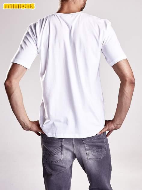 Biały t-shirt męski MINIONS                                   zdj.                                  3