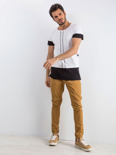 Biały t-shirt męski Narcos                              zdj.                              4