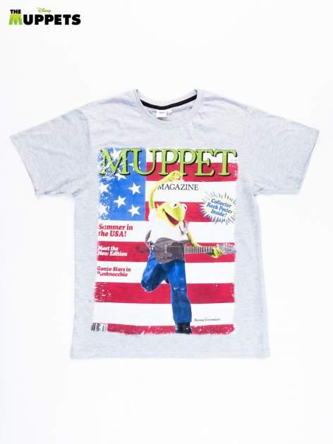 Biały t-shirt męski THE MUPPETS