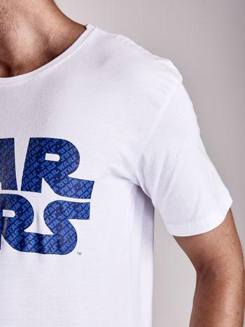 Biały t-shirt męski z nadrukiem STAR WARS                                  zdj.                                  7