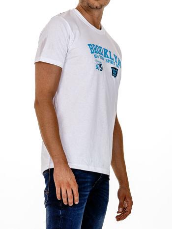 Biały t-shirt męski z napisami BROOKLYN NEW YORK SPIRIT 86                                  zdj.                                  4
