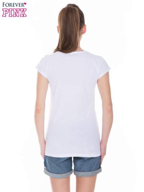 Biały t-shirt z dziewczęcym nadrukiem ROUGH DENIM                                  zdj.                                  4