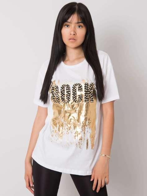 Biały t-shirt z nadrukiem Ginger
