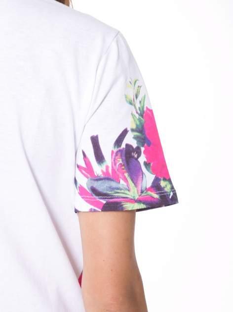 Biały t-shirt z nadrukiem HEAVEN 54 w stylu eclectic                                  zdj.                                  10