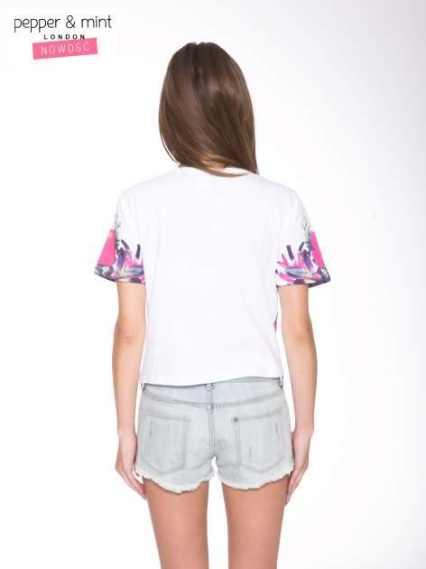 Biały t-shirt z nadrukiem HEAVEN 54 w stylu eclectic                                  zdj.                                  4