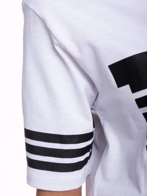 Biały t-shirt z nadrukiem LA w baseballowym stylu                                  zdj.                                  6