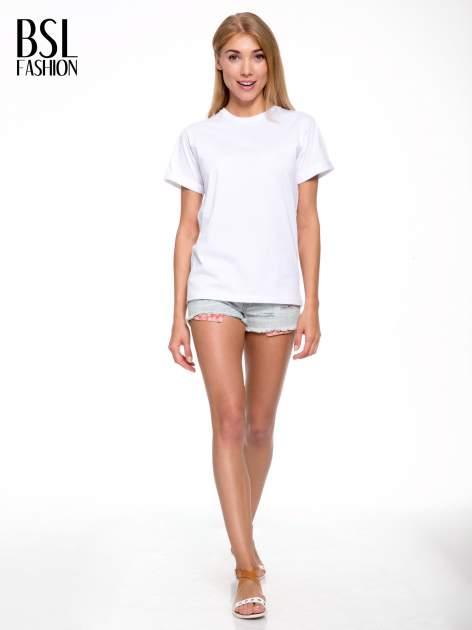 Biały t-shirt z nadrukiem numerycznym AZZEDINE 40 z tyłu                                  zdj.                                  6
