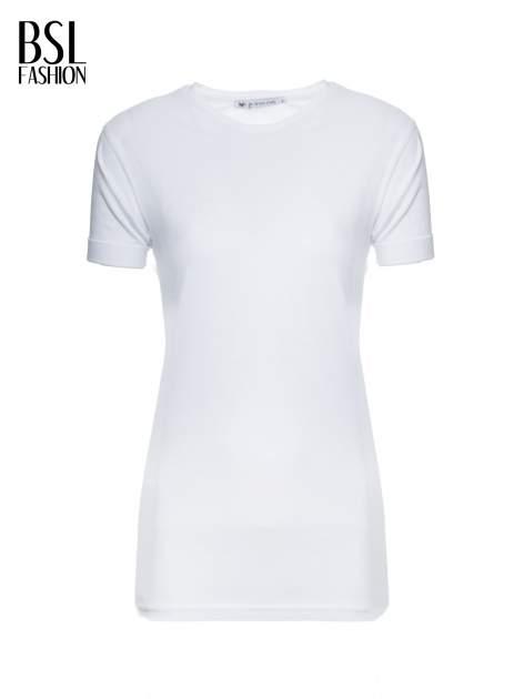 Biały t-shirt z nadrukiem numerycznym AZZEDINE 40 z tyłu                                  zdj.                                  2