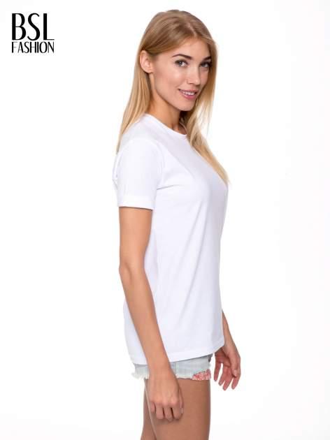 Biały t-shirt z nadrukiem numerycznym AZZEDINE 40 z tyłu                                  zdj.                                  4