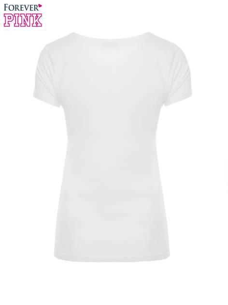Biały t-shirt z nadrukiem ptaków i napisem LIFE IS BETTER WITH FRIENDS                                  zdj.                                  5