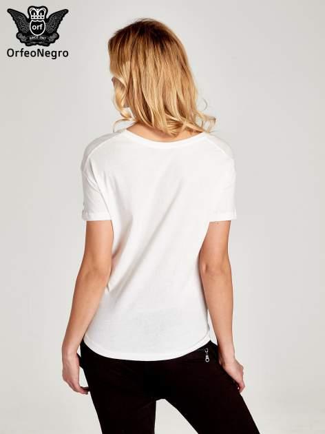 Biały t-shirt z napisem BKLN WILLAMSBURG                                  zdj.                                  4