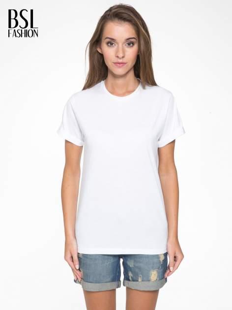 Biały t-shirt z napisem MARGIELA 47 na plecach                                  zdj.                                  1